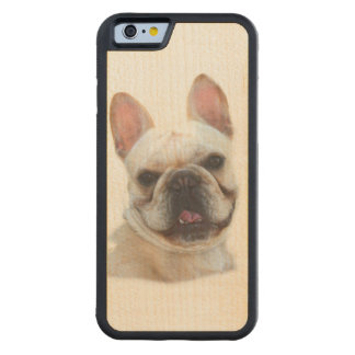 French Bulldog Carved Maple iPhone 6 Bumper Case