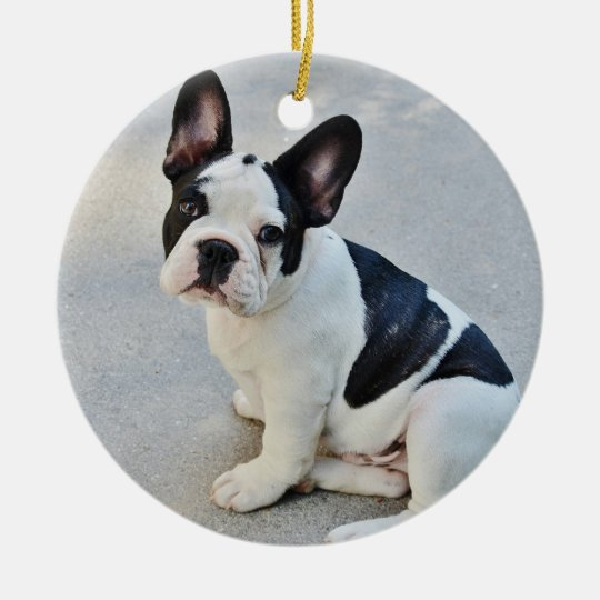 French Bulldog Christmas Ornament With Your Photo