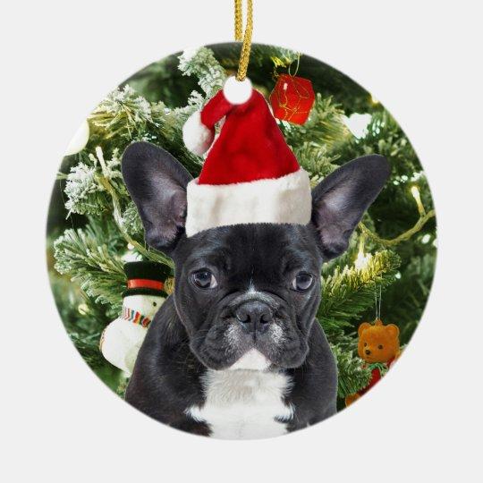 French Bulldog Christmas Tree Ornaments Snowman