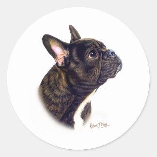 French Bulldog Classic Round Sticker