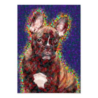 French Bulldog Colorful Pop Art 13 Cm X 18 Cm Invitation Card