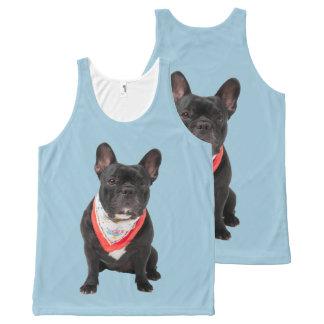 French bulldog cute dog tank t-shirt All-Over print tank top