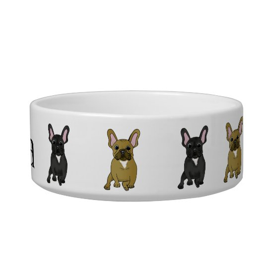 French Bulldog Dog Bowl with Personalised Name