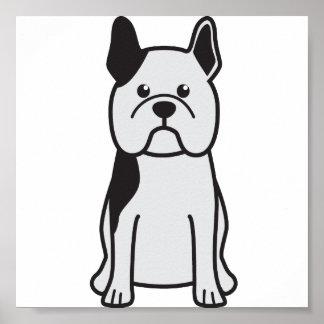 French Bulldog Dog Cartoon Poster