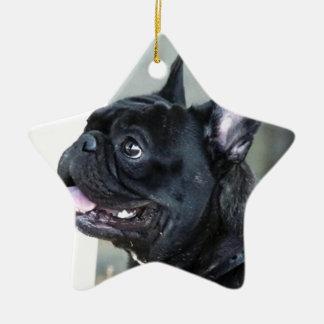 French bulldog dog christmas ornament