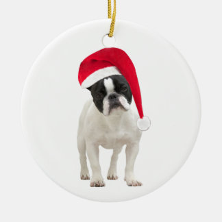 French Bulldog dog christmas tree ornament