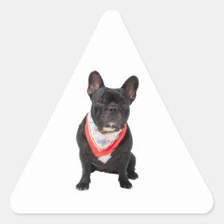 French Bulldog,  dog cute beautiful photo, gift Triangle Sticker