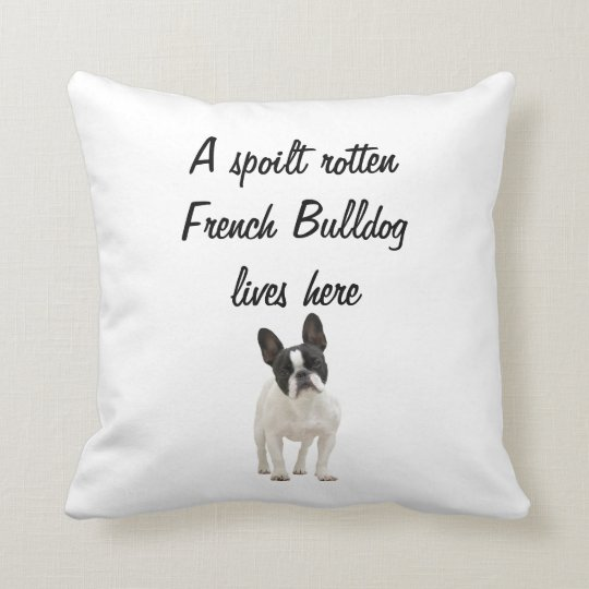 French Bulldog dog photo cushion pillow