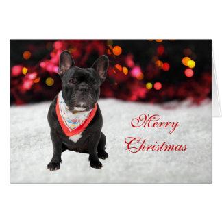French Bulldog dog photo custom Christmas Card