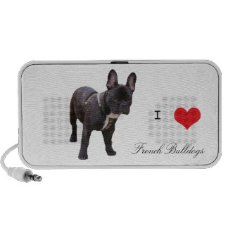 French Bulldog dog portable doodle speakers, gift Notebook Speakers