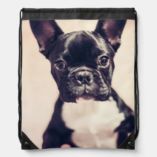 French Bulldog Drawstring Bag