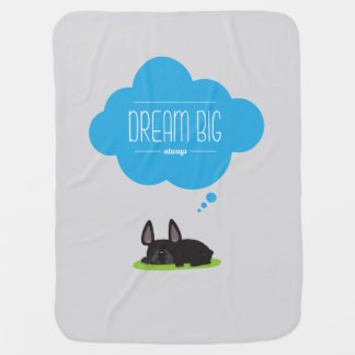 French Bulldog Dream Big Fleece Blanket Baby Blankets