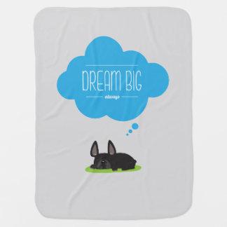 French Bulldog Dream Big Fleece Blanket Baby Blankets