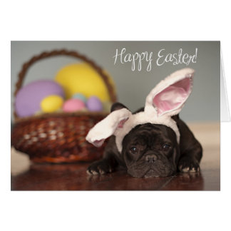 French Bulldog Easter Card! Greeting Card