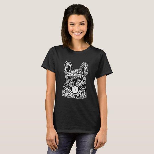 French Bulldog Face Graphic Art T-Shirt
