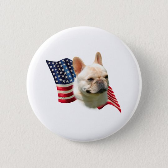 French Bulldog Flag 6 Cm Round Badge