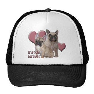 French Bulldog Friends Forever Mesh Hats