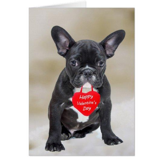 French Bulldog Happy Valentine's Day Greeting Card