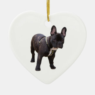 French Bulldog Heart Ornament, gift idea Christmas Ornament