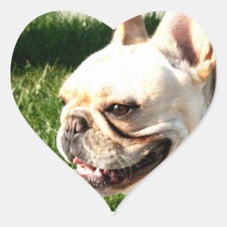 French Bulldog Heart Sticker