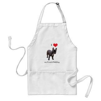 French Bulldog, I love heart, apron, gift idea Standard Apron