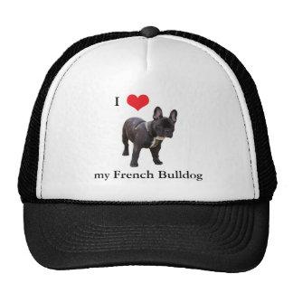 French Bulldog, I love heart, cap, hat, gift idea Cap