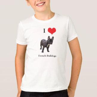 French Bulldog I love heart kids childrens t-shirt