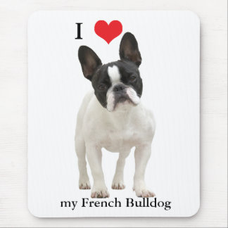 French Bulldog I love heart, mousepad, gift idea Mouse Pad