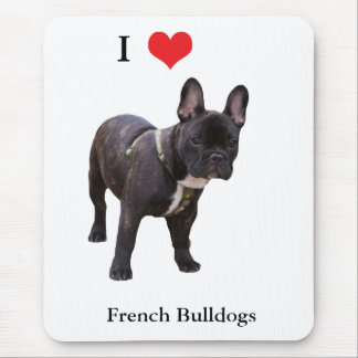French Bulldog I love heart, mousepad, gift Mouse Mat
