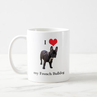 French Bulldog, I love heart, mug, gift idea Coffee Mug