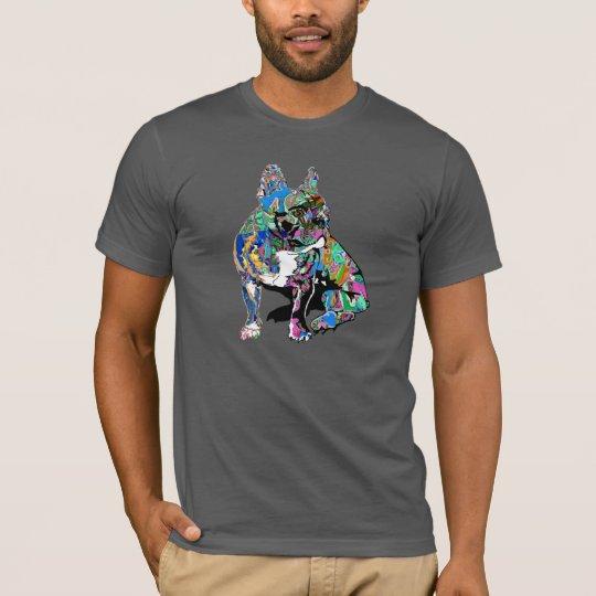 French bulldog in graffiti shirt