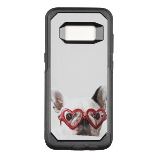 French Bulldog in Heart Glasses OtterBox Commuter Samsung Galaxy S8 Case