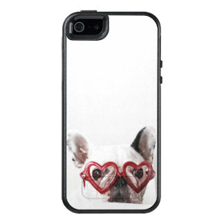 French Bulldog in Heart Glasses OtterBox iPhone 5/5s/SE Case