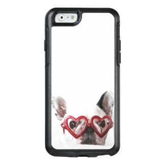 French Bulldog in Heart Glasses OtterBox iPhone 6/6s Case