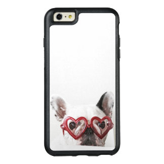 French Bulldog in Heart Glasses OtterBox iPhone 6/6s Plus Case