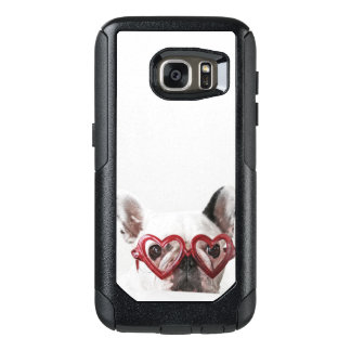 French Bulldog in Heart Glasses OtterBox Samsung Galaxy S7 Case