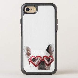 French Bulldog in Heart Glasses OtterBox Symmetry iPhone 8/7 Case