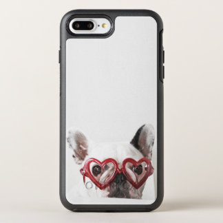 French Bulldog in Heart Glasses OtterBox Symmetry iPhone 8 Plus/7 Plus Case