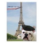 French bulldog in Paris Photo Print