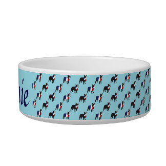 French Bulldog in stylish outfit Pet Water Bowls