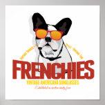 French Bulldog in Sunglasses Poster