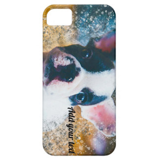 French Bulldog iPhone SE case with splatter effect