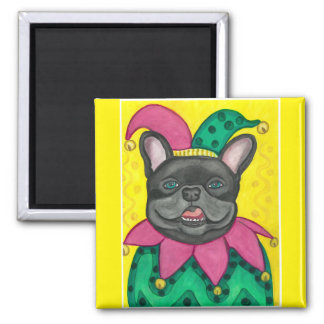 French Bulldog jester magnet
