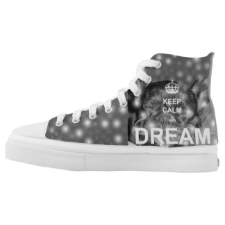 French Bulldog Keep Calm and Dream Printed Shoes