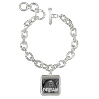 French Bulldog Keep Calm Charm Bracelet