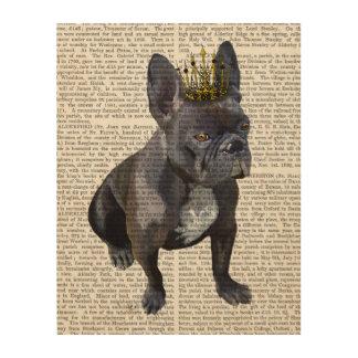 French Bulldog King Wood Print