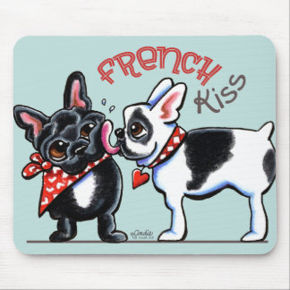 French Bulldog Kiss Mouse Mat