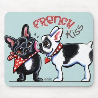 French Bulldog Kiss Mouse Pad