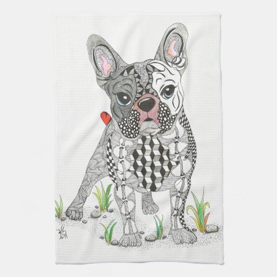French Bulldog Kitchen Towel-Customisable Tea Towel