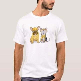French Bulldog & Kitten T-Shirt